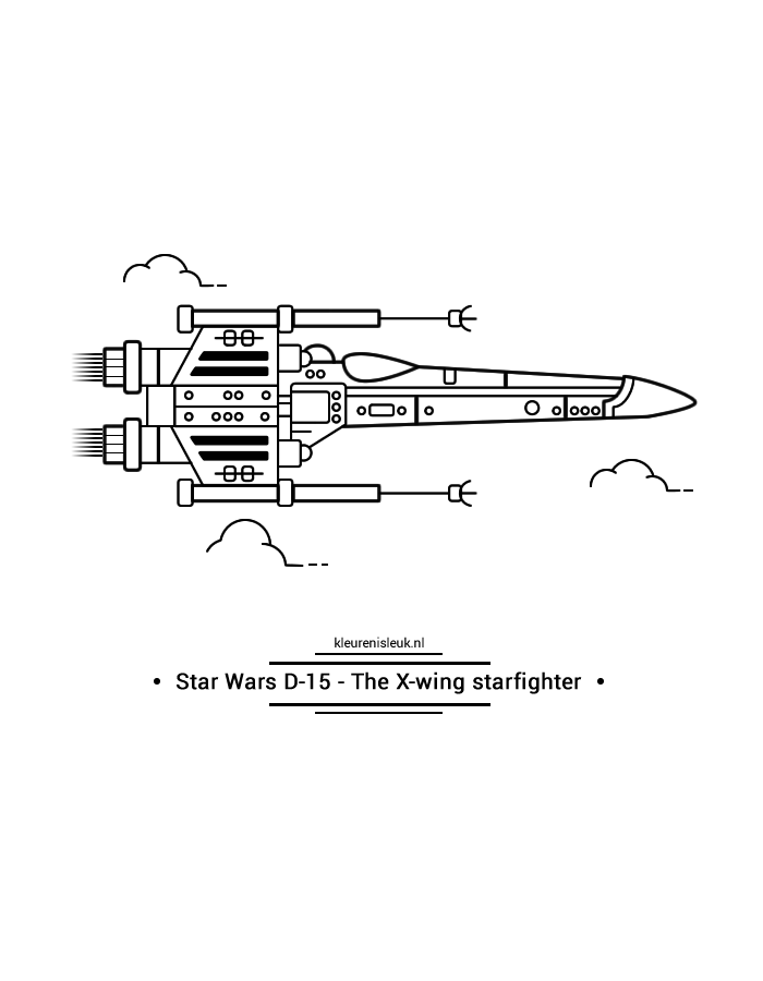 starwars-d15-x-wing-starfighter-kleurplaat